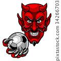 Devil Soccer Football Mascot 34266703