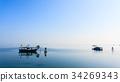 Fishing boats from Po river lagoon, Italy 34269343