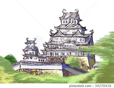 Himeji castle 34270418