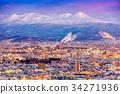 Asahikawa, Japan Winter Skyline 34271936