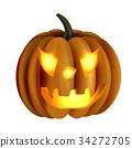 Scary Jack O Lantern halloween pumpkin 34272705