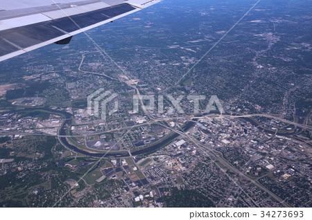 飞机 鸟瞰图 空中拍摄 34273693