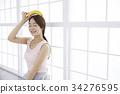 水果 香蕉 女子 34276595