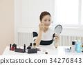 미용용품, 사람, 상반신 34276843