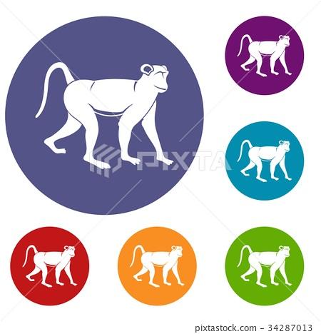 Monkey icons set 34287013