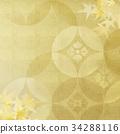 背景-金箔-紅葉 34288116