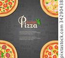 vector, pizza, italian 34290438