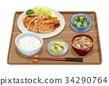 set meal, daily special, Ginger-fried pork set 34290764