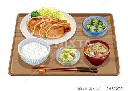 套餐 定食 日式定食 34290764