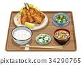 套餐 定食 日式定食 34290765
