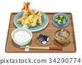Tempura set meal 3 34290774