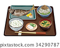 Grilled horse mackerel with salt 2 34290787