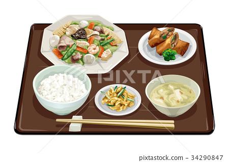套餐 定食 日式定食 34290847