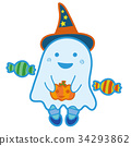 halloween, ghost, apparition 34293862