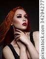 Beautiful vampire young woman 34294277