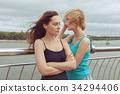 Sad women in a quarrel. 34294406