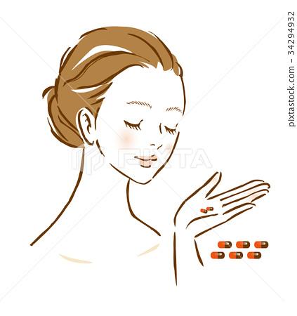 婦女膠囊補充健康食品 34294932
