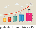 Graph increase in the number of tourists traveling 34295850