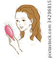 여성 탈모 머리 미용 34296815