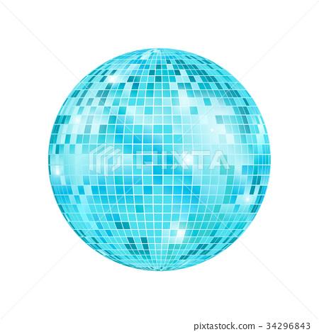 Realistic Detailed Disco Ball. Vector 34296843