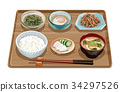 set meal, daily special, japanese food 34297526