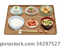set meal, daily special, japanese food 34297527