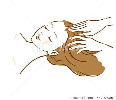 婦女頭皮按摩秀麗頂頭溫泉 34297580