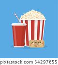 可樂 玉米 穀物 34297655