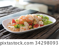 Spicy mixed seafood. thai food 34298093