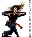 woman Kung Fu Pencak Silat isolated 34298789