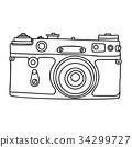 camera, old, vector 34299727