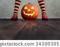 Halloween Pumpkin Autumn Holiday Concept 34300305