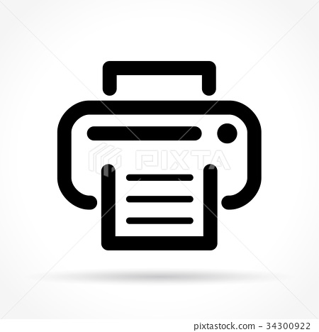printer icon on white background 34300922