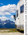 Camping car in a Alps 34302624