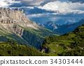 精彩的 白雲石 阿爾卑斯山脈 34303444