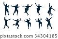 male silhouette dancer 34304185