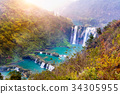 Jiulong waterfall in Luoping, China. 34305955