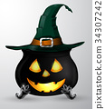 witch, halloween, pot 34307242