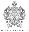 Turtle coloring page 34307328