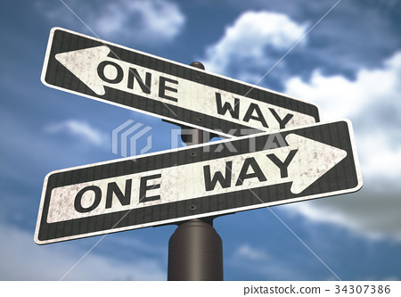 One Way Sign 34307386