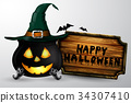 witch, halloween, pot 34307410