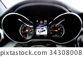The luxury car dashboard. The Modern technology 34308008