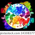 顏料 畫畫工具 繪畫工具 34308377