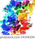 顏料 畫畫工具 繪畫工具 34308394