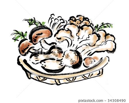 羊肚菌 蘑菇 在籃球隊服務 34308490