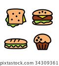 food, sandwich, burger 34309361