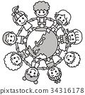 โลก ดิน,เพื่อน,เด็ก 34316178