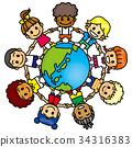 โลก ดิน,เพื่อน,เด็ก 34316383
