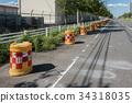 禁止停車 電纜塔 建築工具 34318035