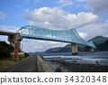橋 跨 桁架橋 34320348